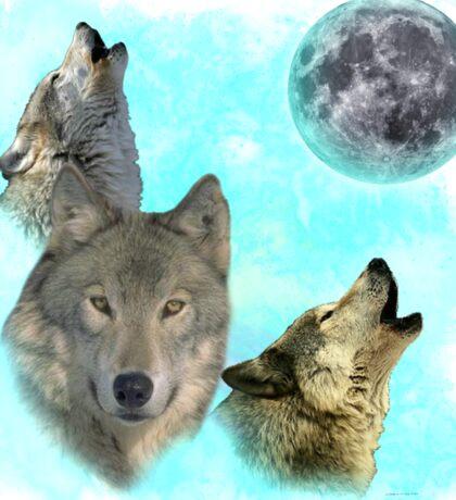 Wolves Shiney Grim Moon 03 Sticker