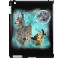 Wolves Shiney Grim Moon 03 iPad Case/Skin