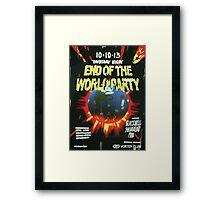 Vortex Club - End of the World Vortex Club Poster  Framed Print