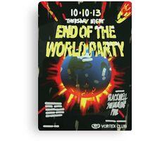 Vortex Club - End of the World Vortex Club Poster  Canvas Print