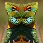 Neville the Unimpressed Lizard by Yampimon