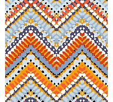 Bohemian print with chevron pattern in natural colors Photographic Print