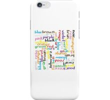 Colour language iPhone Case/Skin