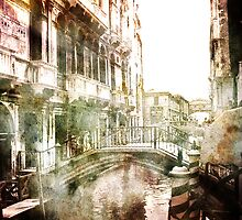 Venetian canal and bridge by friendlydragon