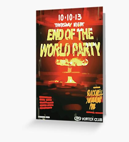 Vortex Club - Another End of the World Vortex Club Poster Greeting Card