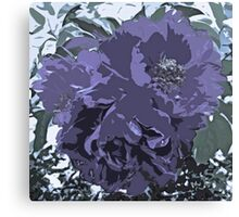 Soft Tone Floral Abstract Lavender Canvas Print