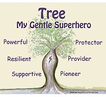 Tree - My Gentle Superhero Photographic Print