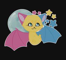 Pansexual Pride Bat by joyfullyironic