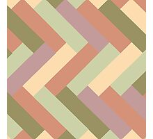 Beach Colors Rectangle Pattern Photographic Print