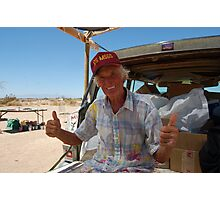 Leonard Knight. The man behind salvation mountain. Photographic Print