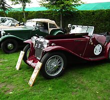 MG LD Sports Tourer/ MG TD in background by Andy Jordan