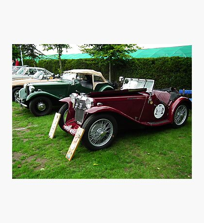 MG LD Sports Tourer/ MG TD in background Photographic Print