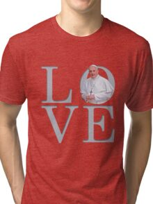 Love with Pope Francis Tri-blend T-Shirt