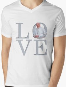 Love with Pope Francis Mens V-Neck T-Shirt