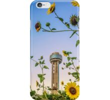 Sunflowers and the Reunion Tower iPhone Case/Skin