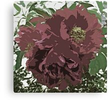 Muted Tone Flowers Abstract Canvas Print