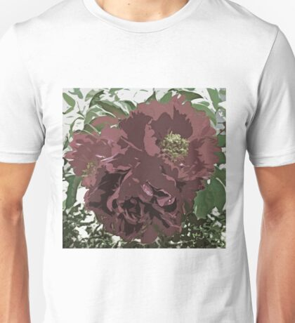 Muted Tone Flowers Abstract Unisex T-Shirt