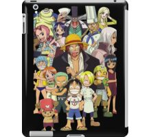 one piece straw hat kids luffy zoro nami anime manga shirt iPad Case/Skin