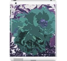Unique Trio Of Flowers Abstract in Purple and Teal Blue  iPad Case/Skin