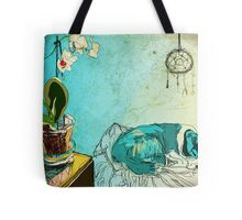 dog and orchid Tote Bag