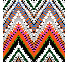 Bohemian print with chevron pattern in vibrant colors Photographic Print