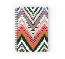 Bohemian print with chevron pattern in vibrant colors Spiral Notebook