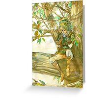 Peaceful Link Greeting Card
