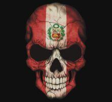 Peruvian Flag Skull Kids Clothes