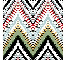 Bohemian print with chevron pattern in soft colors Photographic Print