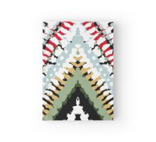 Bohemian print with chevron pattern in soft colors Hardcover Journal