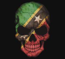 Saint Kitts Flag Skull Kids Clothes