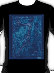 Massachusetts  USGS Historical Topo Map MA Greylock 352743 1898 62500 Inverted T-Shirt