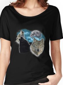 Wolves Moon 3 Women's Relaxed Fit T-Shirt
