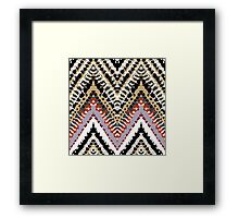 Bohemian print with chevron pattern in retro colors Framed Print