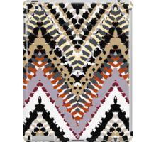 Bohemian print with chevron pattern in retro colors iPad Case/Skin