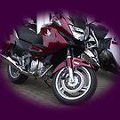 New Motorcycle Honda in Purple  by Dawnsuzanne