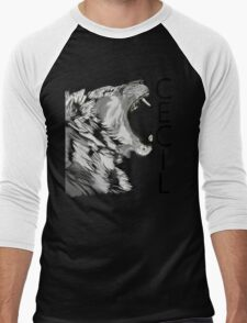 Memory of Cecil the Lion Roaring Men's Baseball ¾ T-Shirt