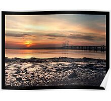 Sunset over the Severn Poster