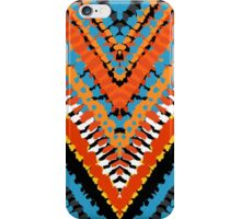 Bohemian print with chevron pattern in red blue colors iPhone Case/Skin