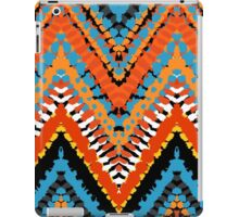 Bohemian print with chevron pattern in red blue colors iPad Case/Skin