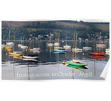 Looking towards Clynder Argyll Poster