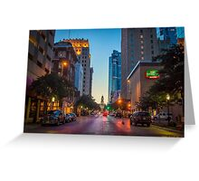 Downtown Fort Worth at Sunset Greeting Card
