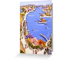 The river city Greeting Card