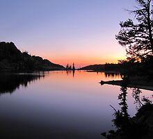Traverse Lake Sunset  by Don Siebel