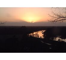 Sunset over River Thames Photographic Print