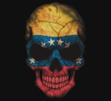 Venezuelan Flag Skull Kids Clothes
