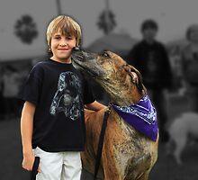 Boy and his Great Dane by Joe Randeen