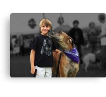 Boy and his Great Dane Canvas Print