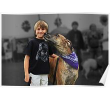 Boy and his Great Dane Poster