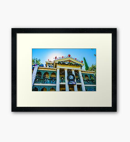 haunted holidays Framed Print